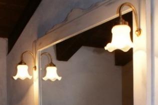 Illuminazione bagno provenzale