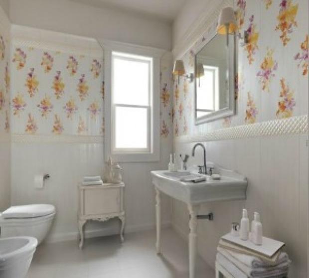 Pareti bagno provenzali colori materiali e decori - Bagno stile provenzale ...