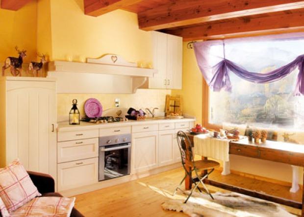 Pareti Gialle Per Cucina : Cucina provenzale mobili pareti e pavimenti