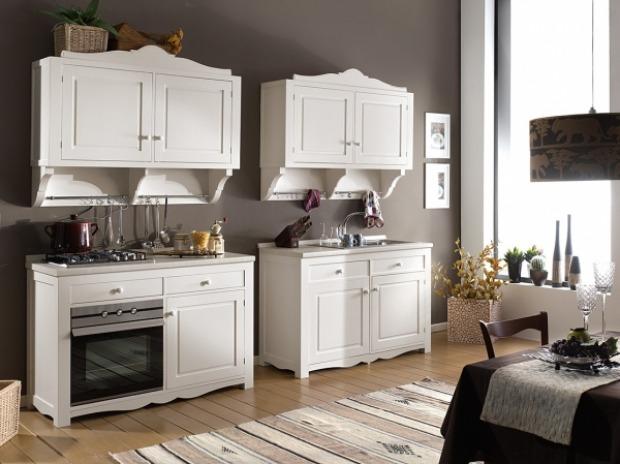 Mobili cucina provenzali: mobili base, pensili e credenze
